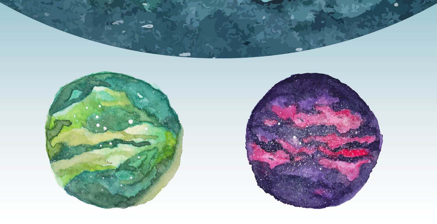 Watercolor Galaxy 2 versions